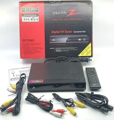 Zenith DTT901 Digital TV Tuner Converter Box Includes Remote With Instructions