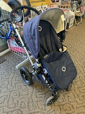 Excellent Condition Navy Blue Bugaboo Frog Stroller W/lots Of Accessories