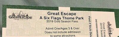 2019 Gold Season Pass to Six Flags Great Escape With Free Season Parking