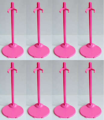 "8 PCS Pink Stands / Display For 11.5"" Doll or similar size dolls / toys -  S7"