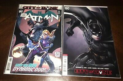 Batman #77 Cover A & B Variant City Of Bane Death Of Alfred 1st Print Set NM