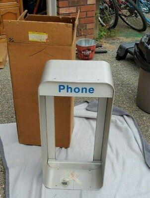 Vintage Aluminum Drive Up or Wall Pay Phone Booth Enclosure