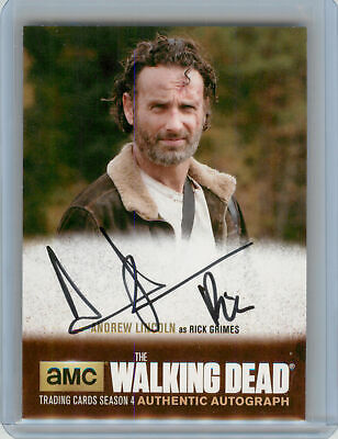 2016 Cryptozoic Walking Dead Season 4 Pt 2 Autograph Andrew Lincoln Rick Grimes