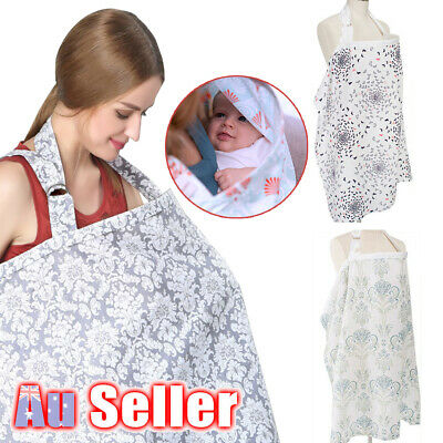 3 in 1 Nursing Cover Maternity Breastfeeding Baby Cotton Blanket Generous