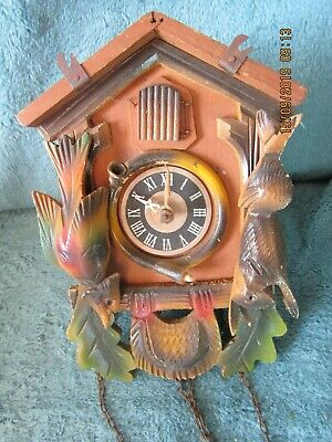 West German Made Gula Cuckoo Clock spares or repair project