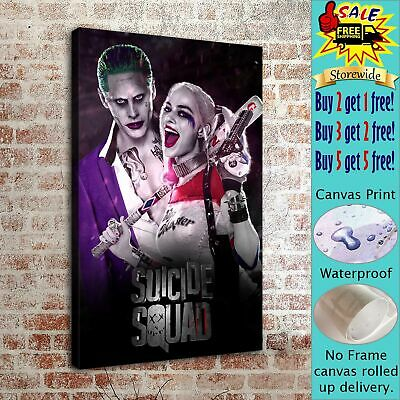 Harley Quinn and Joker HD Canvas prints Painting Home decor Poster Room Wall art
