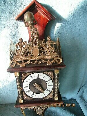 Zaanse Zaandam Dutch FHS Wall Clock spares or repair project