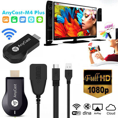 M4 Plus AnyCast 1080P WiFi HD HDMI Media Player Streamer TV Cast Dongle Stick