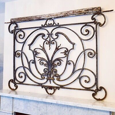 Reclaimed Salvage 18th Century Wrought Iron French Chateau Antique Balcony