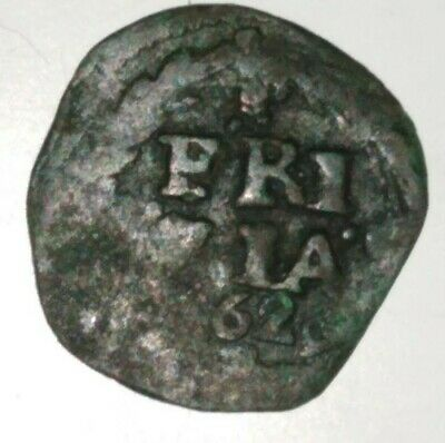 Spanish / Netherlands Provincial Pirate 1662 Duit Frisia Mint Very Rare