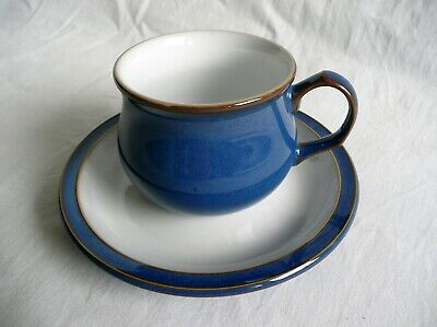 Denby 'Imperial Blue' Coffee Cup And Saucer.