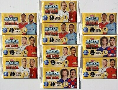 10 x MATCH ATTAX TRADING CARD PACKS SEASON 2019 / 20  ~