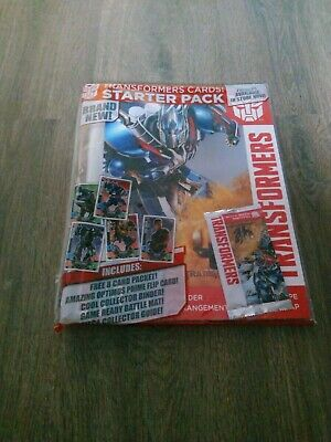 Topps Transformers Cards Starter Pack. 8 Card Packet & Binder. Brand new/sealed.