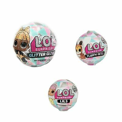 LOL Surprises Winter Disco Glitter Globe Series Doll, Fluffy Pets, and Lils