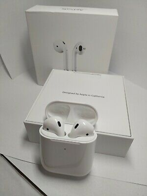 Apple AirPods 2 w/ Wireless Charging Air Ear Pods Pod 2nd Generation MRXJ2AM/A