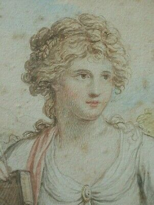Francis Wheatley RA a pair of classical portrait studies watercolours listed