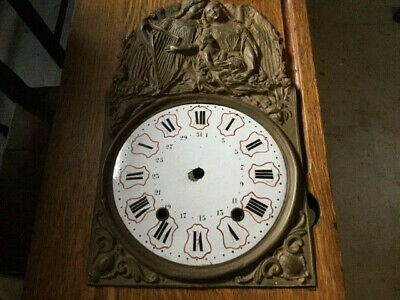 Antique French Morbier Weight Driven Wag On The Wall Comtoise Clock Face/Dial