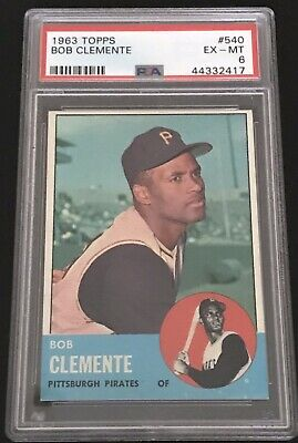 1963 Topps Bob Clemente #540 PSA 6 EX-MT - Hobby Fresh Great Color Clarity