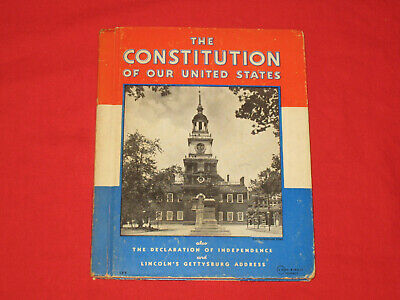 The Constitution of Our United States, 1936, Signed by NJ Congressman D. Daniels