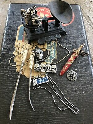 Vintage Occult/Biker Lot of Jewerly & Antiques See Description