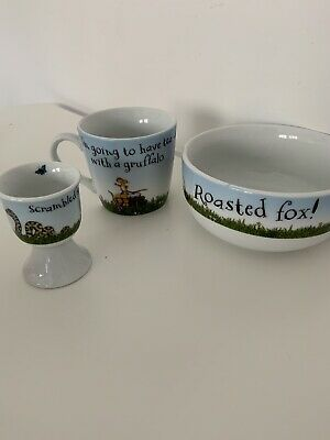 Childrens Gruffalo Cup Bowl Egg Cup Ceramic Set