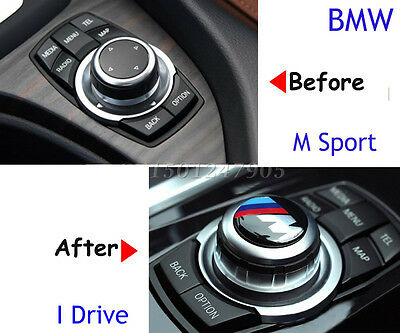 29mm BMW M Sport Button i Drive Controller Badge Logo Emblem Sticker Multimedia