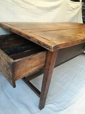 Antique early oak kitchen table french farmhouse free local delivery possible