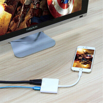1080P Light To HDMI Digital AV TV Cable Adapter For iPad iPhone XS XR X 8 7 6 6S