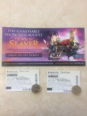 Warwick Castle Tickets x 2 (The Sun Offer) – Thursday 19th September 2019