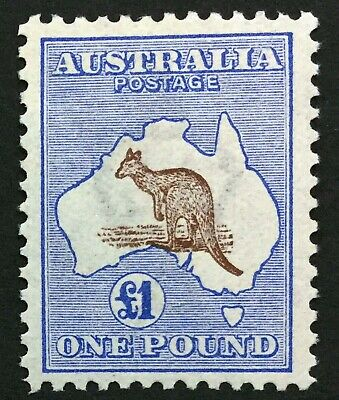 (good) Australia Kangaroo, 1913-14 £1 Brown & Ultramaine. Superb example Sg 15