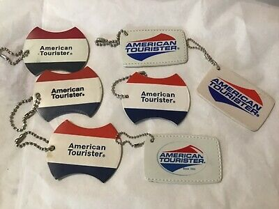 American tourister 7 pcs. vintage luggage tags
