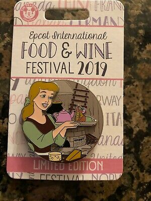 Disney EPCOT Food & Wine Festival 2019 LE Cinderella and Gus Pin