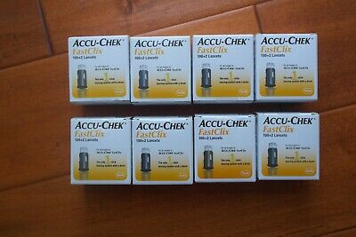 800 + 16 Accu-Chek FastClix  Lancets 8 x 102  New Boxes Sealed  EXP 2022-2023