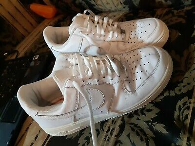 Nike Air Force 1 White Leather  Trainers Size 8