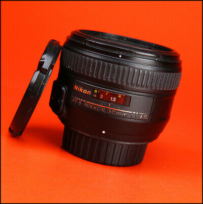 Nikon AF-S 50mm F1.4 G Autofocus Prime Lens With Front & Rear Caps