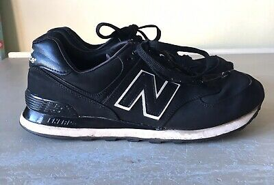 Mens Black NEW BALANCE Trainers Size 8 Gym Running Training Casual
