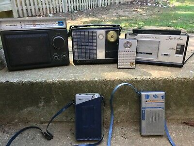 Lot of 6 Vintage Transistor Radios All Untested And Sold AS-IS