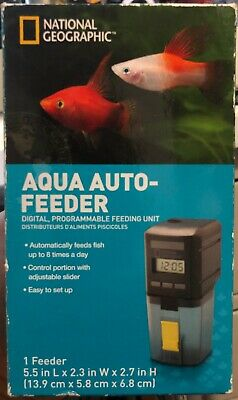 *NEW*NATIONAL GEOGRAPHIC Fish Feeder Programmable Automatic Food Dispenser