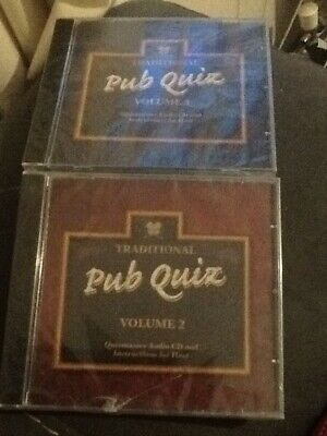 2 Sealed CDs Traditional Pub Quizmaster CD's Volume 2 and Volume 3