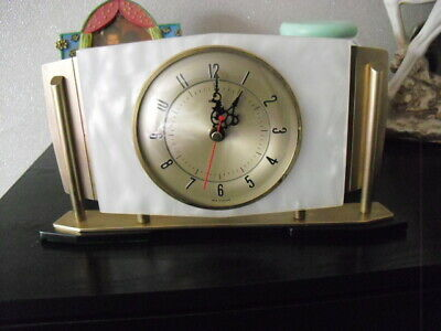 1930/40s mantle clocks converted to quartz battery movement 5 available