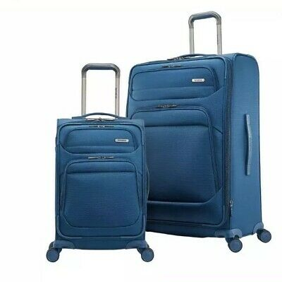 Samsonite Epsilon NXT 2-Piece Softside Travel Luggage Spinner Set, Blue