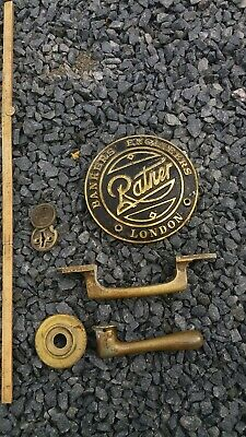 RATNER BANKERS ENGINEER brass safe plate, Key Cover And 2 handles