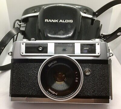 Beautiful Vintage Rank Mamiya Rangefinder Film Camera & Original Case