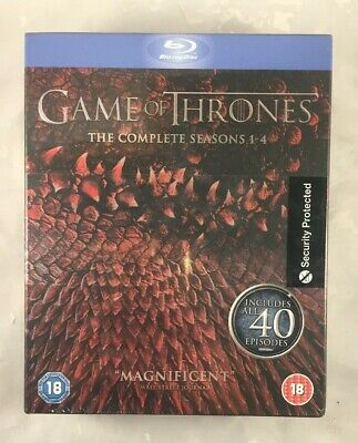 Game Of Thrones, The Complete Seasons 1-4, Blu-Ray Discs, New And Sealed