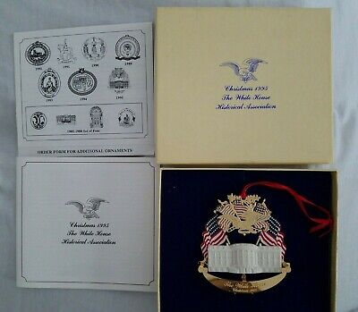 The White House Historical Association 1995 Christmas Ornament~THE WHITE HOUSE