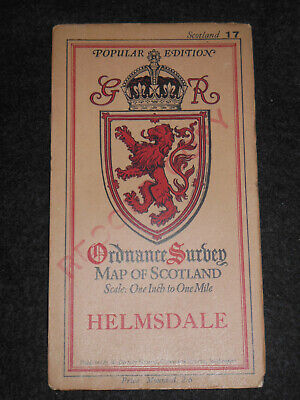Helmsdale (Sutherland) Vintage 1930 Ordnance Survey Scotland/Scottish Map 17