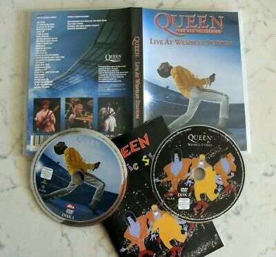 Queen Live At Wembley Stadium Complete Concert 2 Dvd Set 2003 Made In Eu