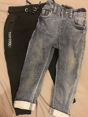 2 X Boys Jeans/Joggers Size 1 1/2 - 2 Years