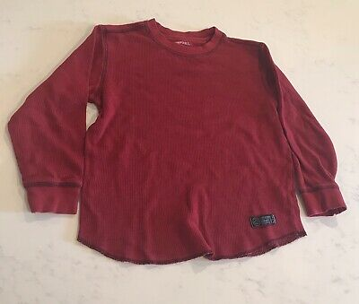 Ralph Lauren Boys Cotton Henley Long Sleeve Shirt Jewel Red Sz XL 18-20 NWT