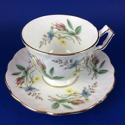 Aynsley Spring Flowers Fine Bone China Tea Cup And Saucer
